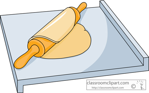 Clipart   Pastry Board With Dough On A Roll   Classroom Clipart