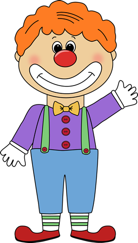 Clown Clip Art Image With