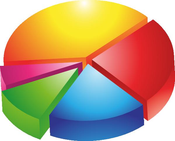 diagram clipart   clipart kidcolored pie chart clip art