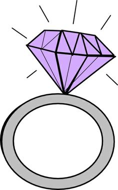 Engagement Ring Clipart Purple Diamond Ring Clipartengagement Ring