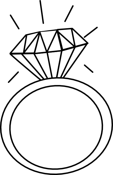 Engagement Ring Outline   Free Cliparts That You Can Download To You
