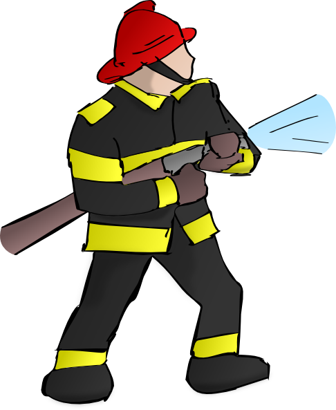 Cartoon Fireman Clipart - Clipart Kid