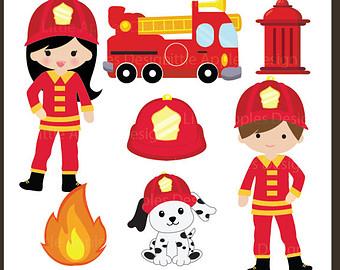 Firefighter Truck Clipart - Clipart Kid