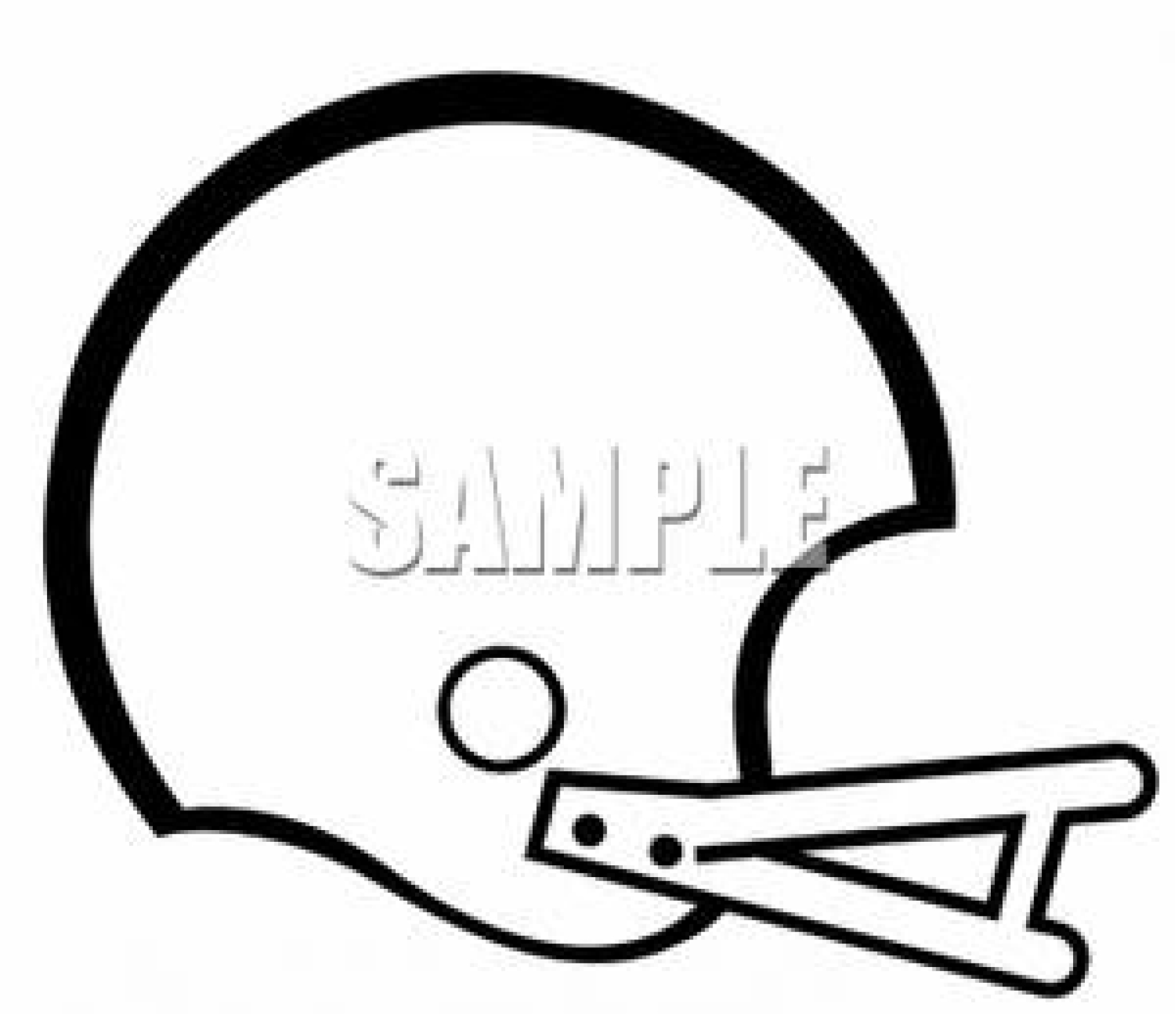 Helmet Outline Clip Artwork