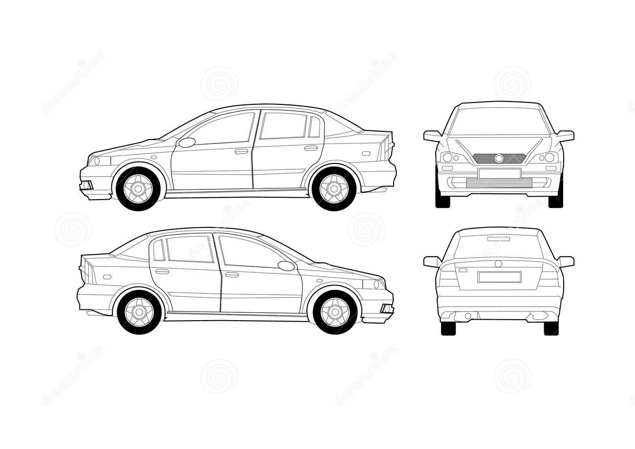 Generic Saloon Car Diagram Royalty Free Stock Photography   Image
