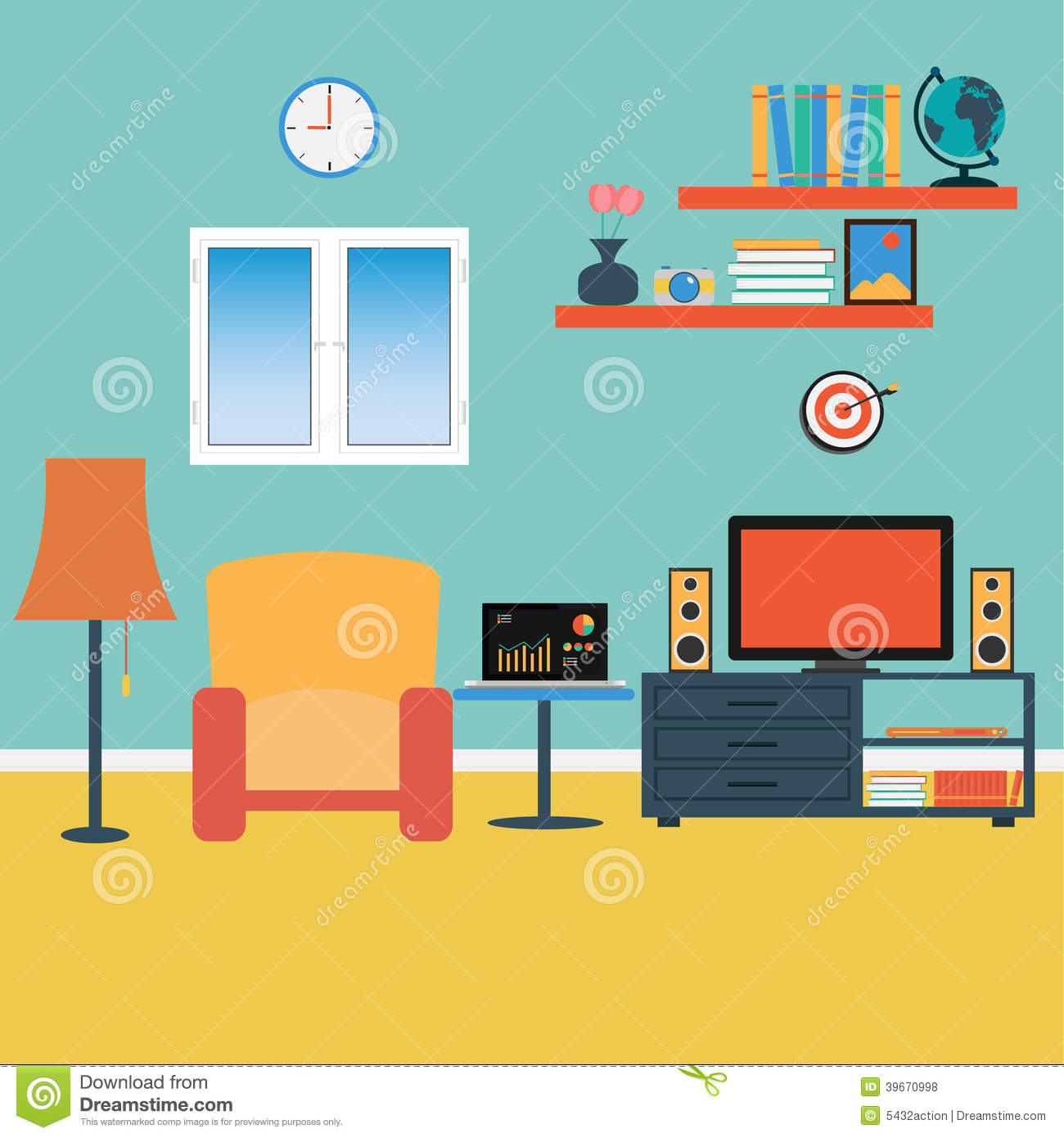 Living room background clipart clipart suggest for Room design vector