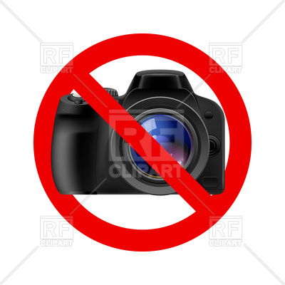 No Camera And Photo Allowed Sign Download Royalty Free Vector Clipart