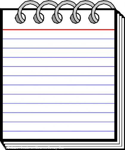 Notepad Clipart - Clipart Suggest