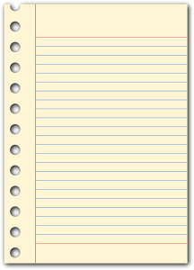 Notepad Page Clipart