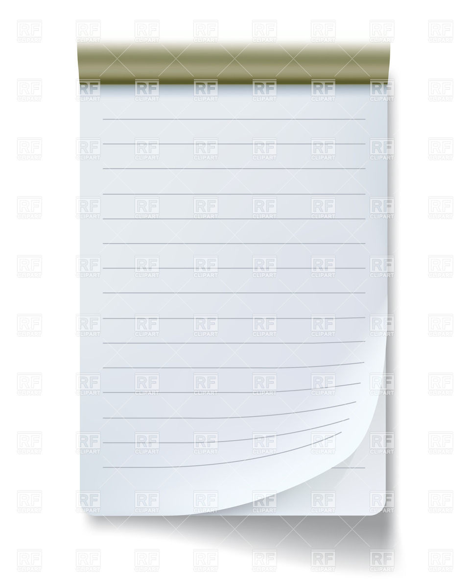 Notepad With Bended Page Download Royalty Free Vector Clipart  Eps