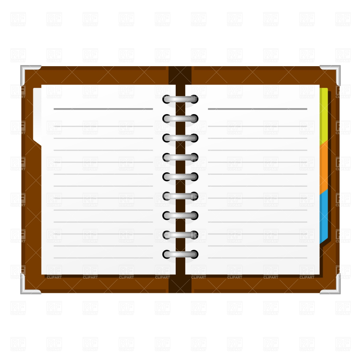 Open Spiral Notepad Download Royalty Free Vector Clipart  Eps