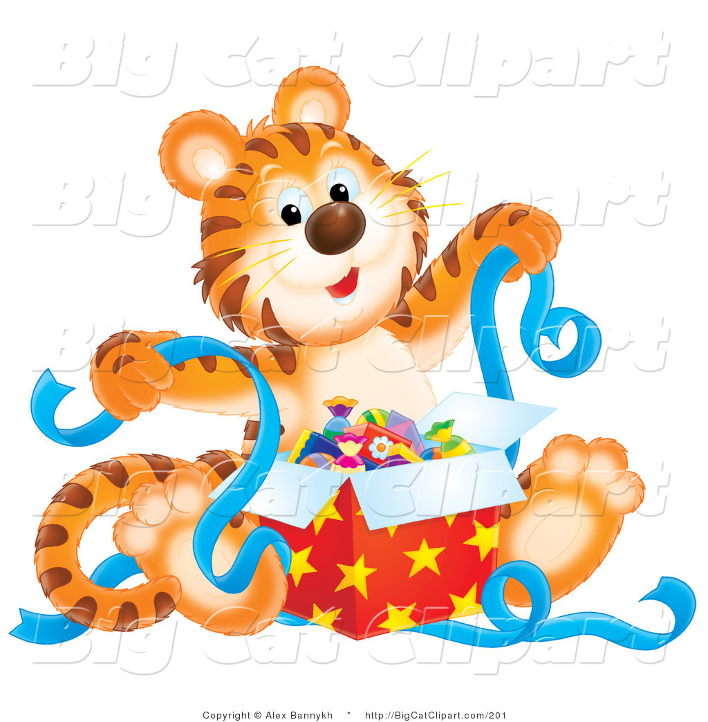 Royalty Free Birthday Stock Big Cat Clipart Illustrations