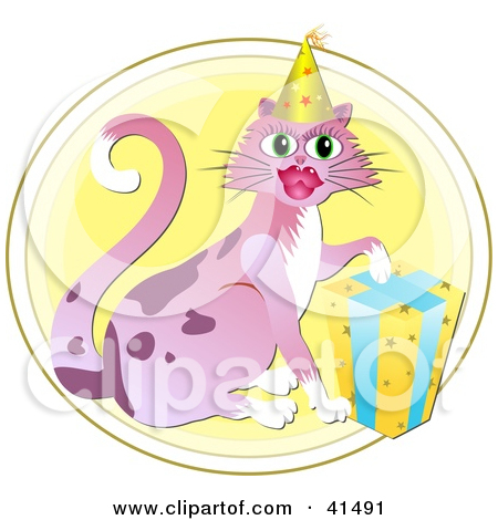 Royalty Free  Rf  Birthday Cat Clipart Illustrations Vector Graphics