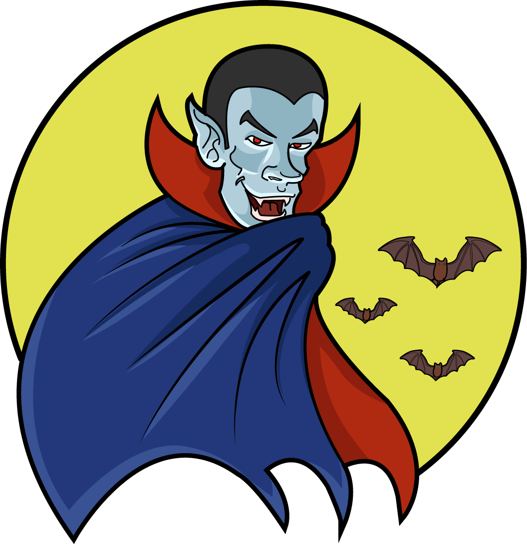 Vampire Moon Colored   Clipart Fort