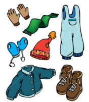 Winter Clothing Drive Clip Art