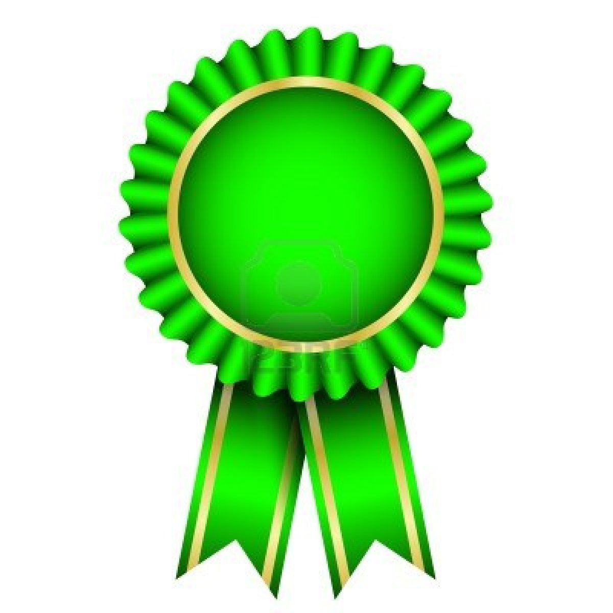 13715767 Vector Illustration Of Green Badge With Ribbon