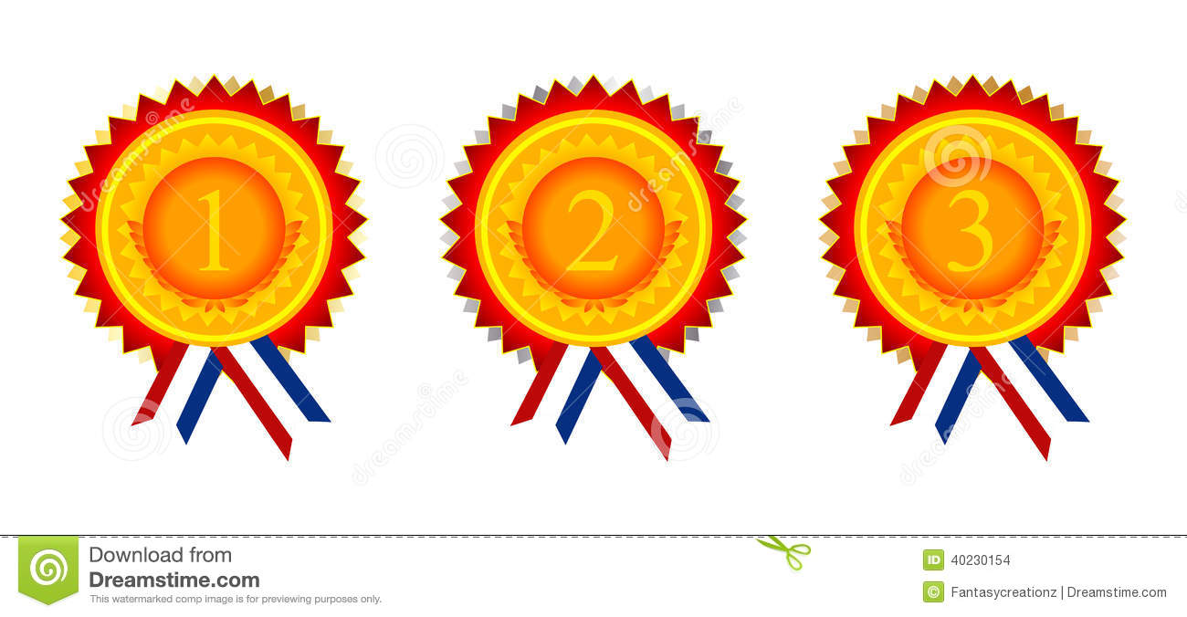 1st 2nd 3rd Place Ribbon Clip Art 1st 2nd And 3rd Place Award Golden