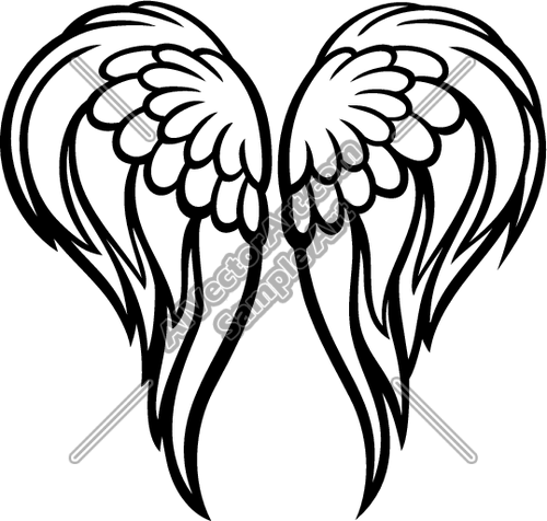 Angel Wings Clipart And Vectorart  Graphics   Wings Vectorart And