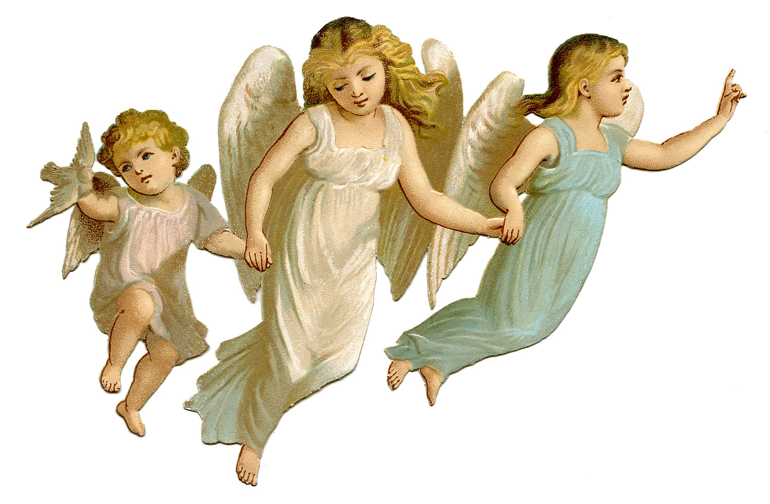 Antique Image   Especially Pretty Angel Children   The Graphics Fairy