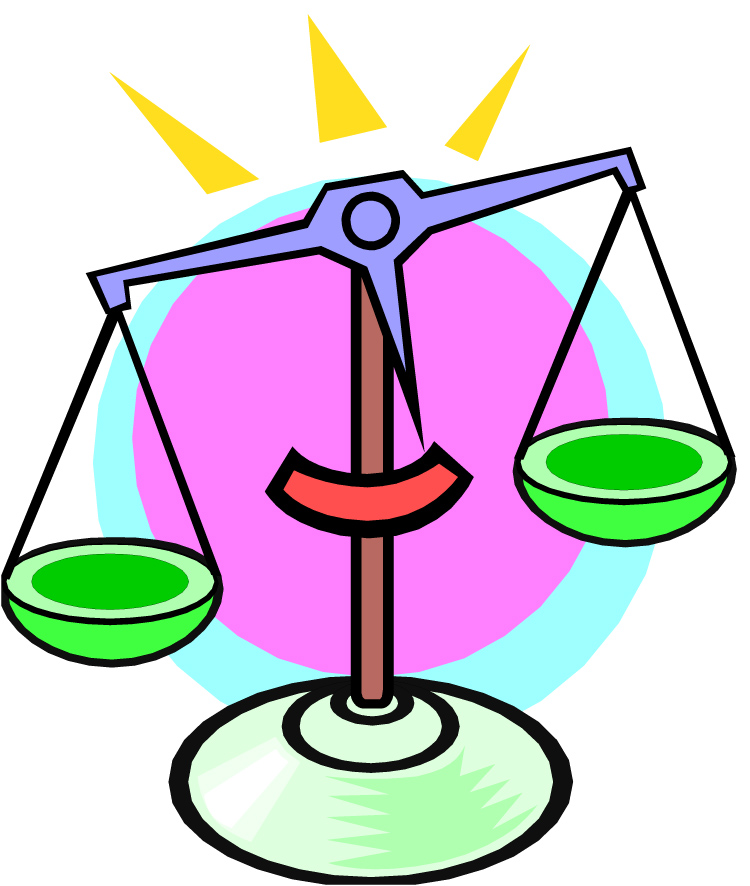 Balance Scale Drawing Clipart