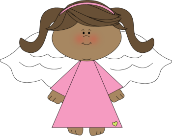 Clipart Angels Black White