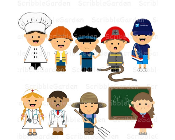 Clip Art Community Helpers Clip Art community workers clipart kid items similar to helpers digital on etsy