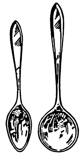 Kitchen On Spoon And Soup Spoon Public Domain Clip Art Image Wpclipart