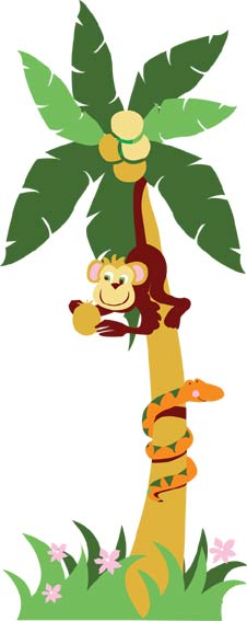Coconut Tree Monkey Clipart - Clipart Kid