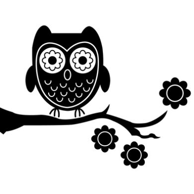Cute Owl Silhouette Clipart - Clipart Suggest