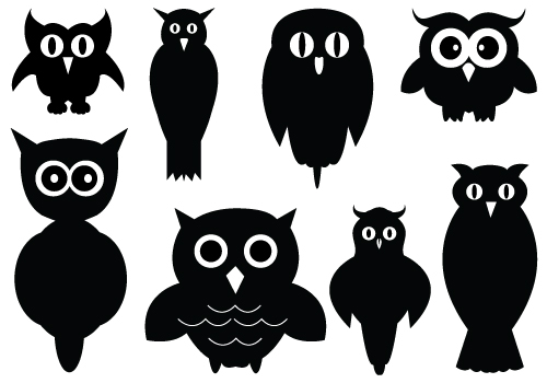 Owl Silhouette Clipart - Clipart Suggest