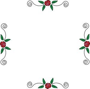 Border Roses Clipart - Clipart Kid