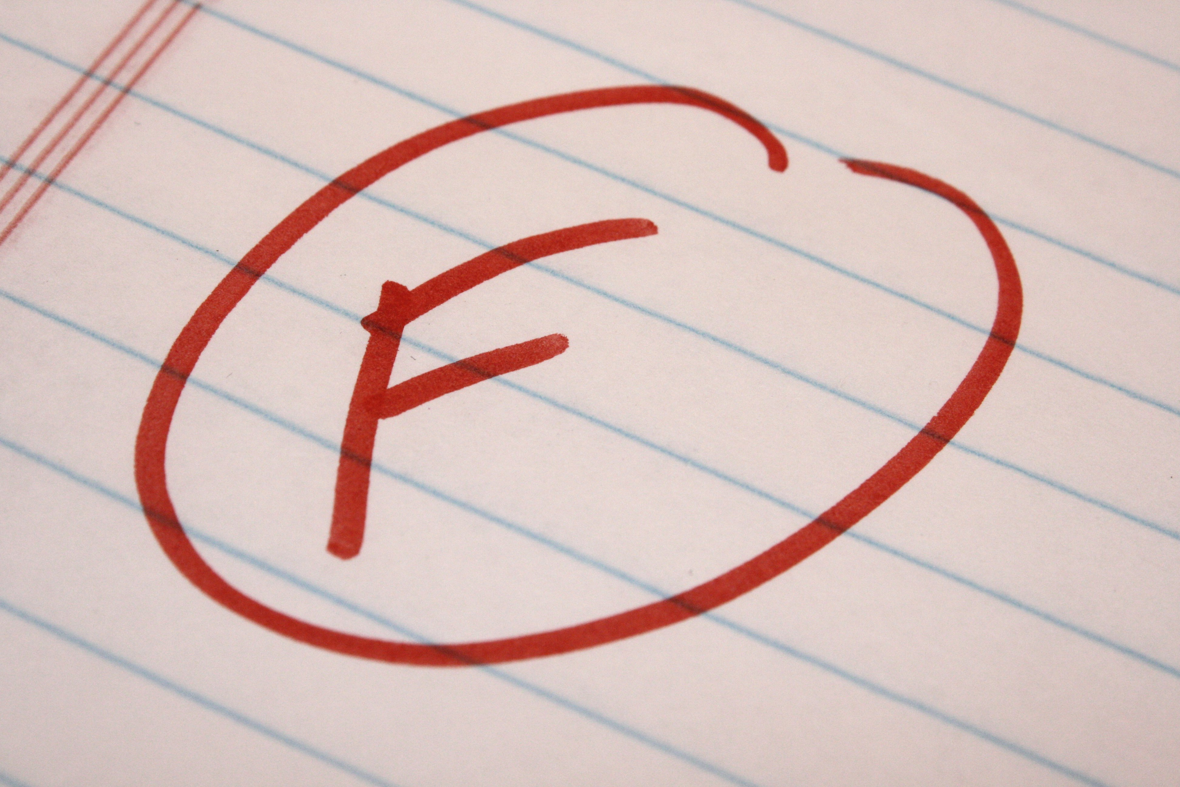 failing grades essay For more about this, check out aacomas changing their grade  in the total  gpa—including the failing grade and all subsequent attempts.