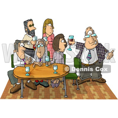 Showing Up Late To An Office Party Clipart Picture   Djart  6062
