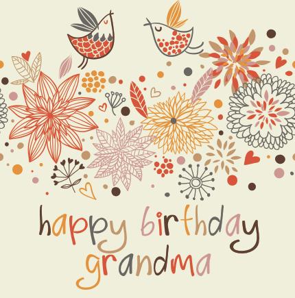 happy birthday grandma clipart  clipart kid, Birthday card