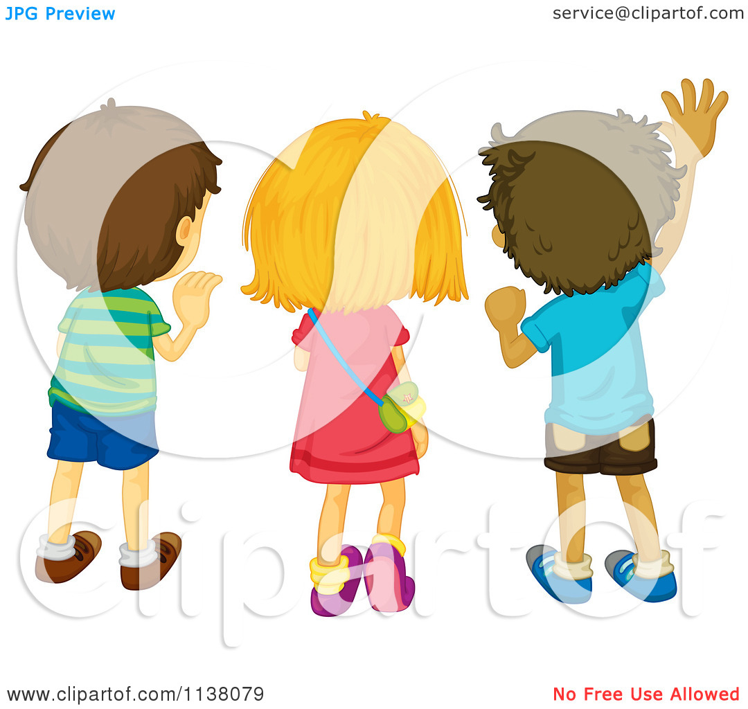 sad girl waving goodbye clipart clipart kid