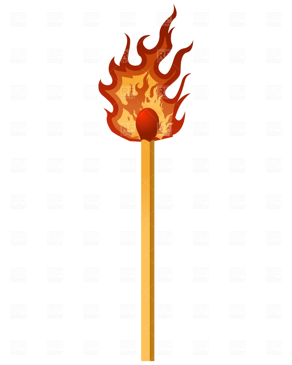 Burning Match Download Royalty Free Vector Clipart  Eps