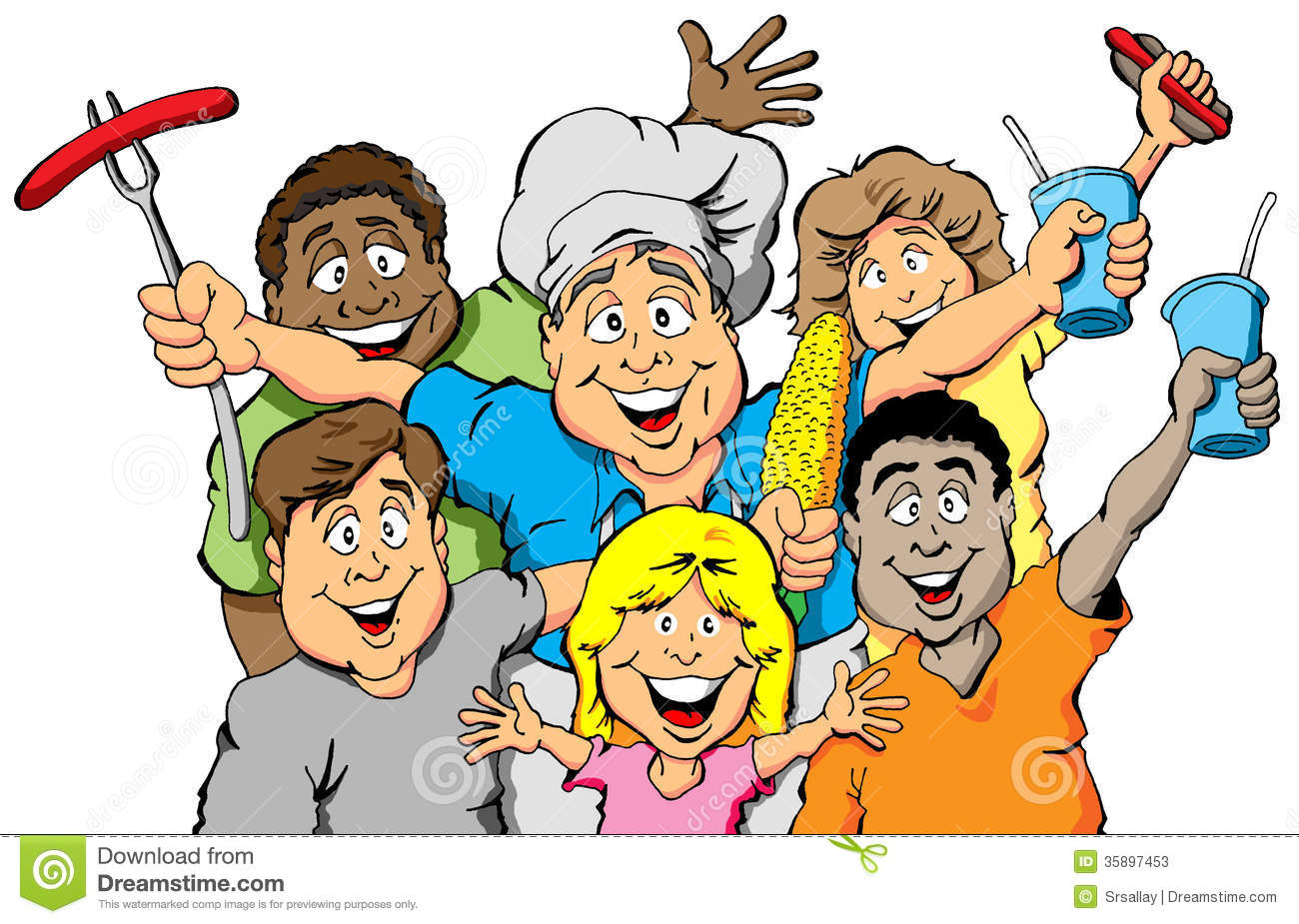 Group Of People Eating Clipart - Clipart Kid