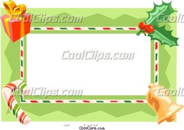 Christmas Gift Border Vector Clip Art
