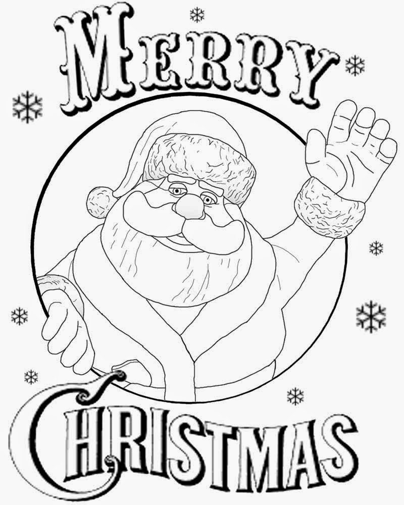 Coloring Pages For Teenagers Xmas Santa Claus Clipart Black And White