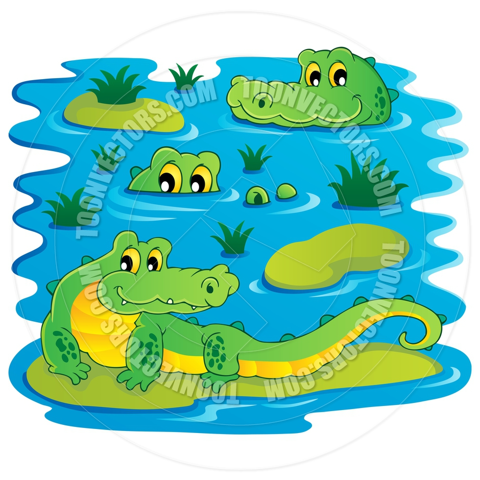 Crocodile In Water Clipart   Clipart Panda   Free Clipart Images