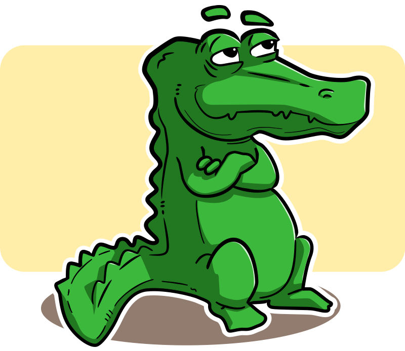 Free To Use   Public Domain Crocodile Clip Art