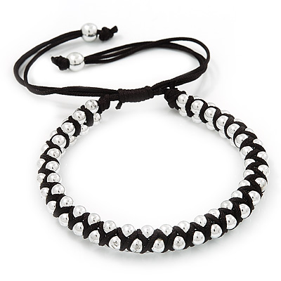 Friendship Black And White 3 Black And White Color Silk Friendship