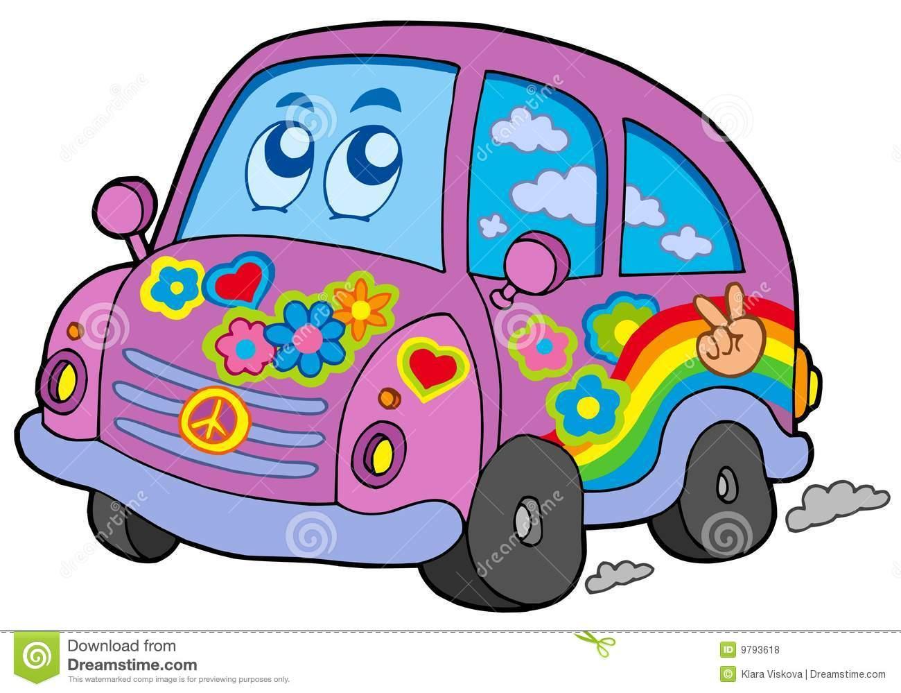 Hippie Car Royalty Free Stock Photos   Image  9793618