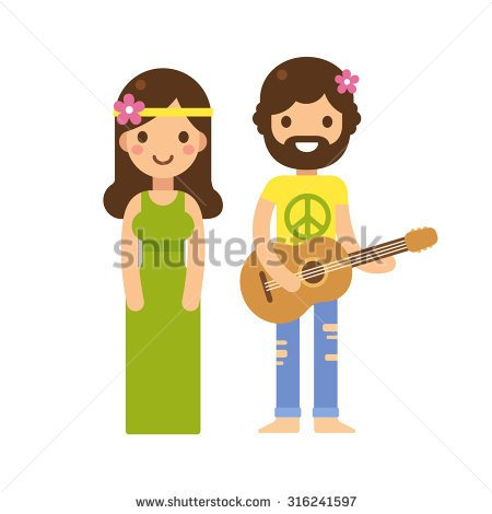 Hippies Stock Vectors Amp Vector Art