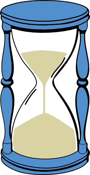 Hourglass With Sand Clip Art At Clker Com   Vector Clip Art Online