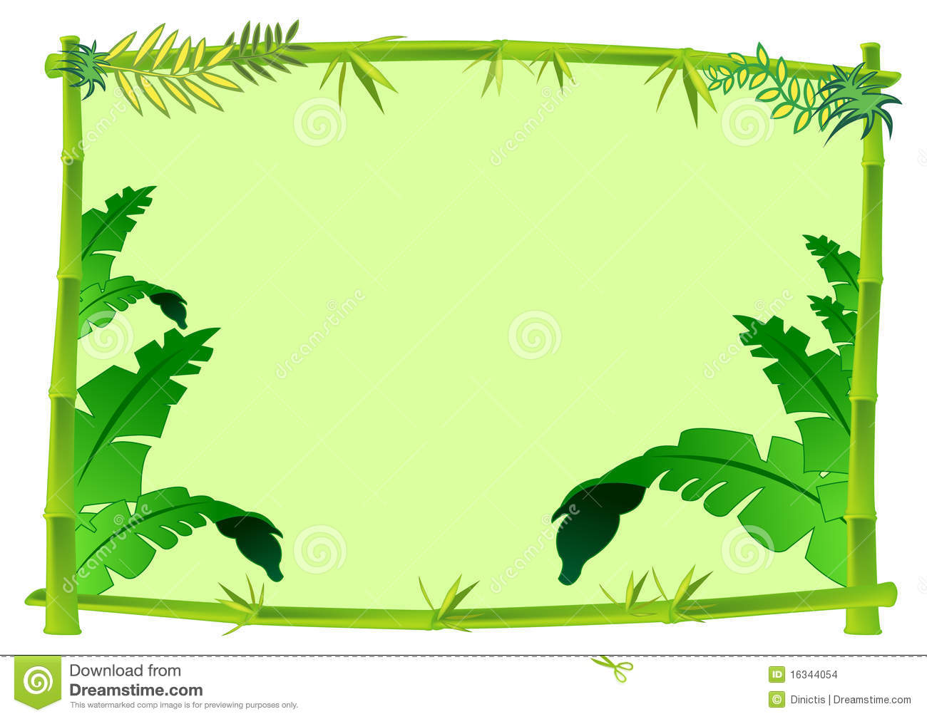 Jungle Trees Clip Art