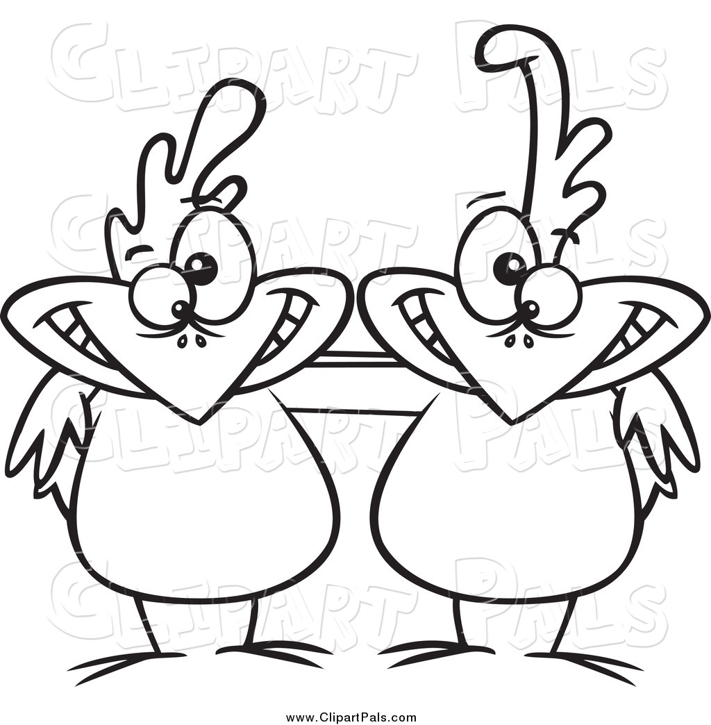 Larger Preview  Pal Clipart Of Black And White Friend Chicken Buddies