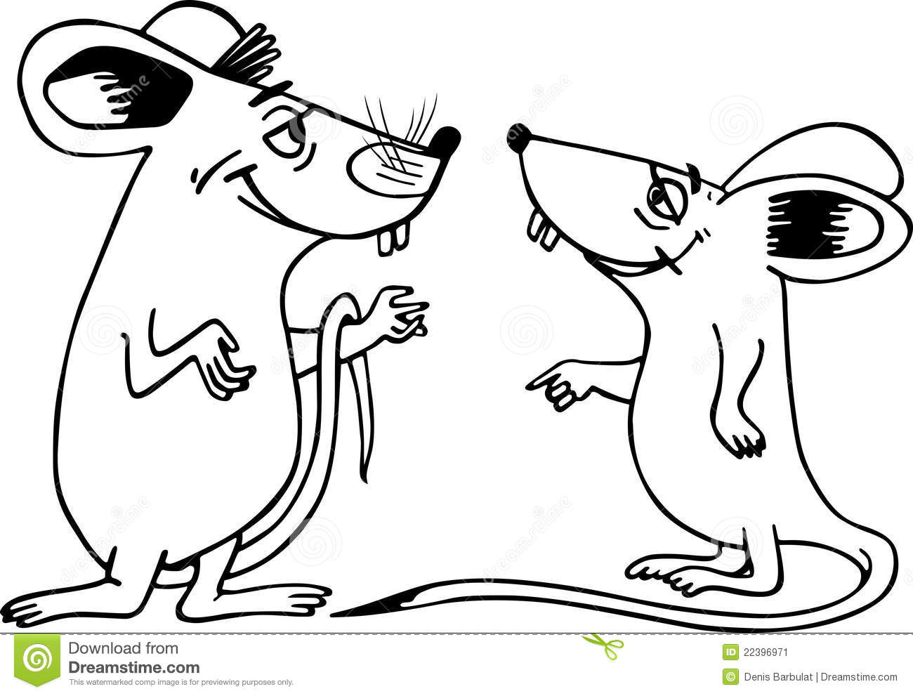 Mice Clipart Two Mice