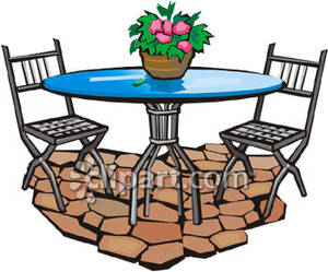 Deck Patio Furniture Clip Art Images