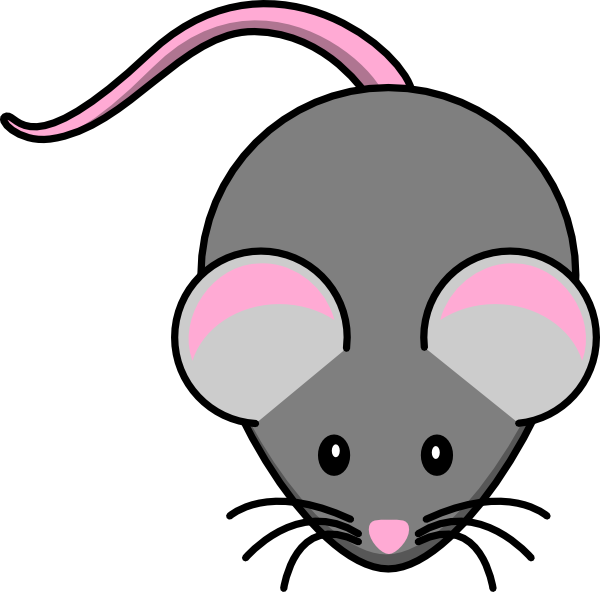 Pink And Grey Mouse Clip Art At Clker Com   Vector Clip Art Online
